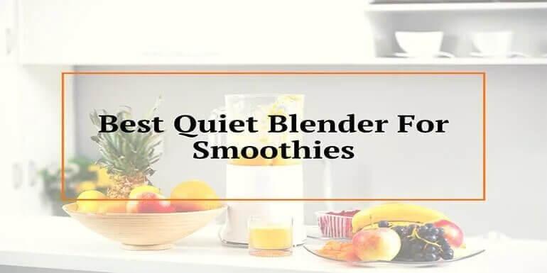 Best Quiet Blender For Smoothies